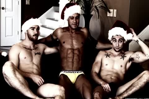 A homosexual Christmas fuckfest In This Great video scene