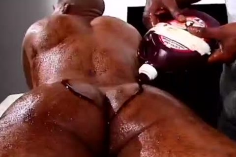 Two darksome males With Food Fetish gang sex Hard