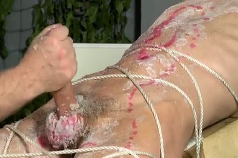 bdsm villein lad fastened Up, Waxed And Milked Schwule Jungs
