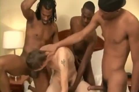 homo Interracial One White Three darksome