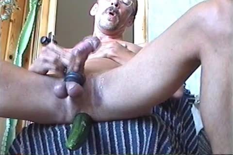 Jerk-off With A Firmly Inserted sextoy Or Cucumber (with Slow Motion Version In The Second Part)