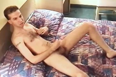 man Lays On His sofa And Squeezes His Hard cock