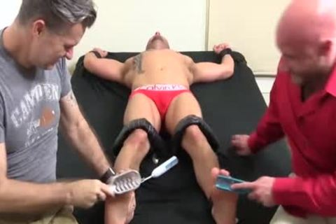 lascivious Bald guy With Tattoos acquires Hard Tickle Session