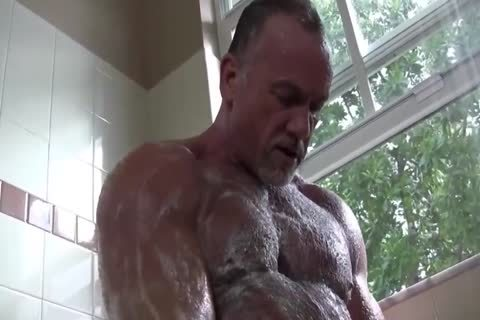 attractive Muscle Daddy Mikey Shower jerk off   sperm