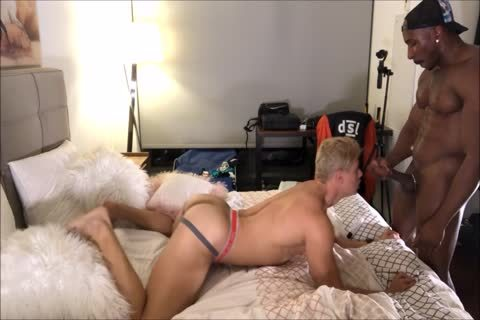 blonde Interracial ass banging And a-hole Licking