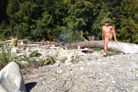 Uncut Nudist Enjoying The outside