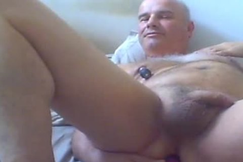 daddy dude Love Ventouse On nipples And sex toy In wazoo