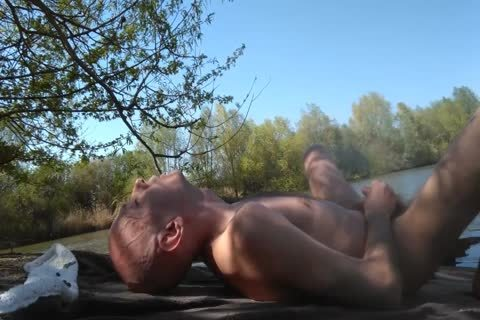 homo Solo Masturbation outside