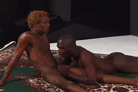 Skinny ebony lad's arsehole acquires A Hard Poking