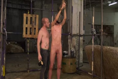 blonde Skinny twink tied Up And Waxed By His dom slavemaster