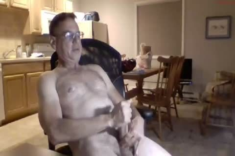 Hung handsome old man Cums