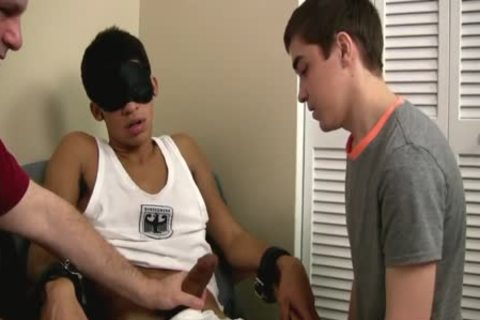 homo teen First Time engulfing A Restrained Straight large schlong